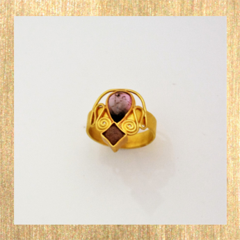 Bild Ring Turmalin Gold Diamantwürfel